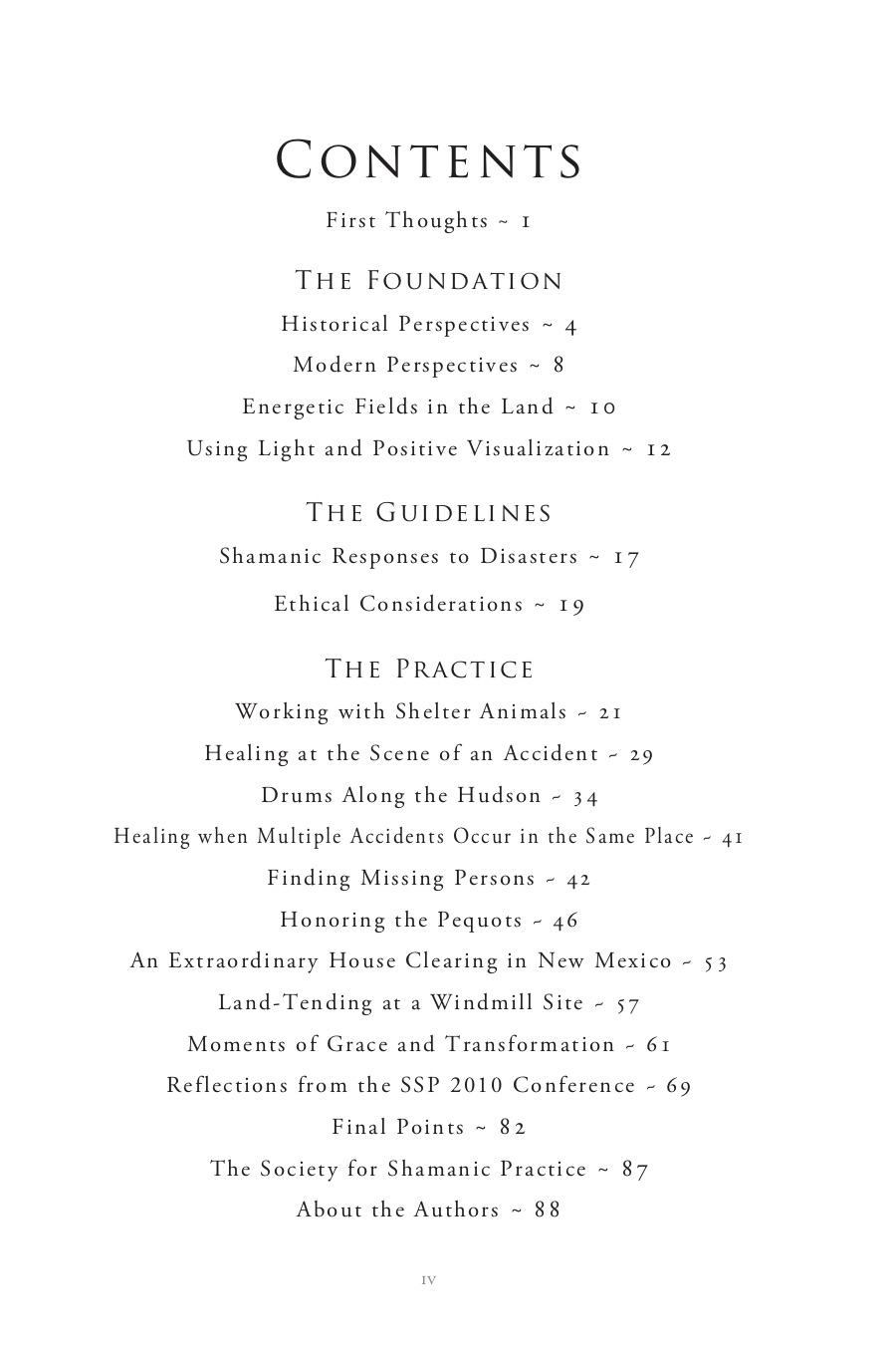 Shamanism Without Borders TOC